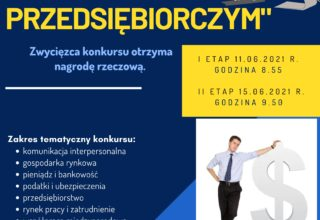 """Szkolny konkurs """"BYĆ PRZEDSIĘBIORCZYM"""""""